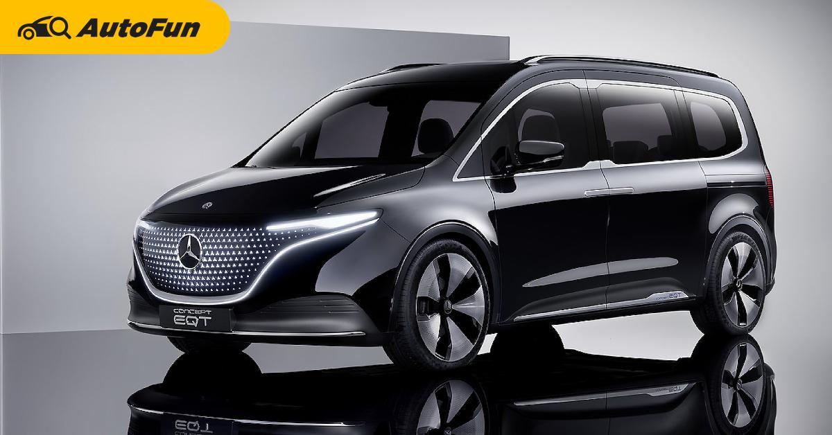 2022 Mercedes-Benz Concept EQT แวนเล็กสเปคไฟฟ้าล้วน 7 ที่นั่งประตูสไลด์ ขายจริงปีหน้า 01