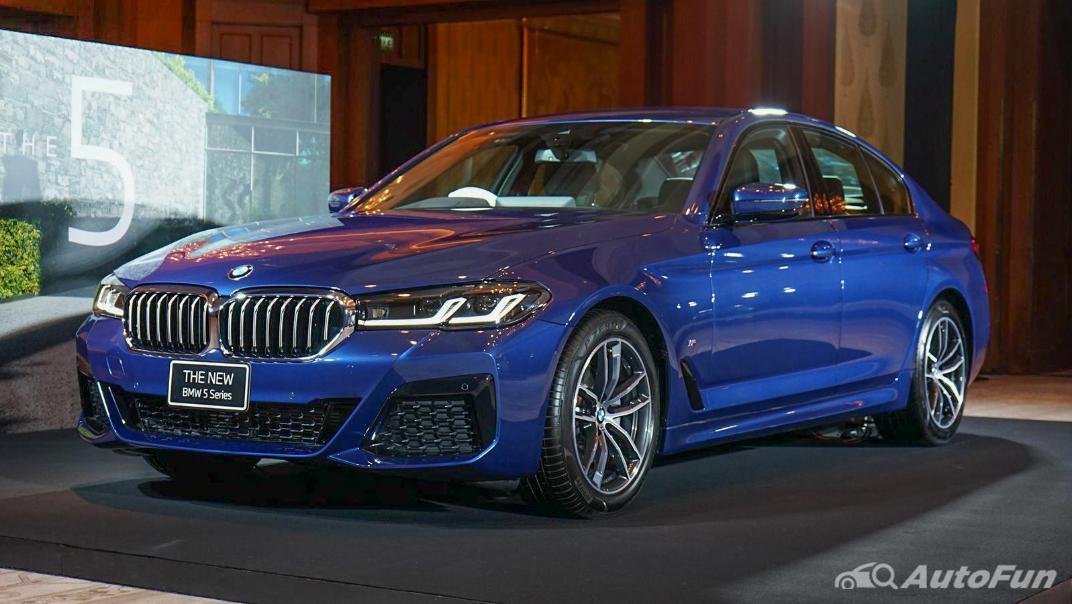 2021 BMW 5 Series Sedan 520d M Sport Exterior 001
