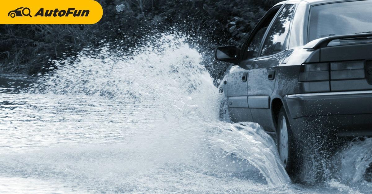5 วิธีขับรถฝ่าน้ำท่วมให้ปลอดภัยไร้เครื่องดับ 01