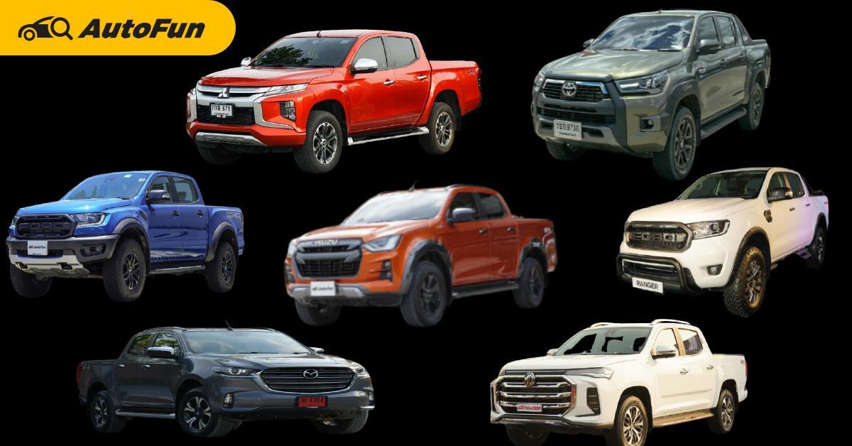 ส่องยอดขายกระบะ 4 ประตูมีนาคม 64 Isuzu D-Max ครองแชมป์ต่อยาวยาว Toyota Hilux ตามมาติด ๆ 01