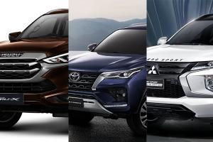 เทียบไฮไลท์ 2021 Isuzu MU-X – Toyota Fortuner – Mitsubishi Pajero Sport รุ่นไหนน่าสนใจที่สุด?