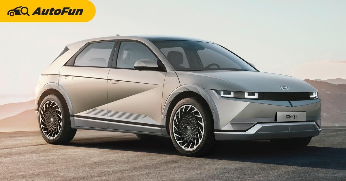 2022 Ioniq 5 รถไฟฟ้า Hyundai ทรงเรโทรจากอนาคต 01
