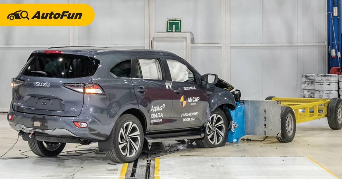 2021 Isuzu MU-X คว้า 5 ดาวความปลอดภัย มีทั้งดีและด้อยกว่าเมื่อเทียบ Toyota Fortuner 01